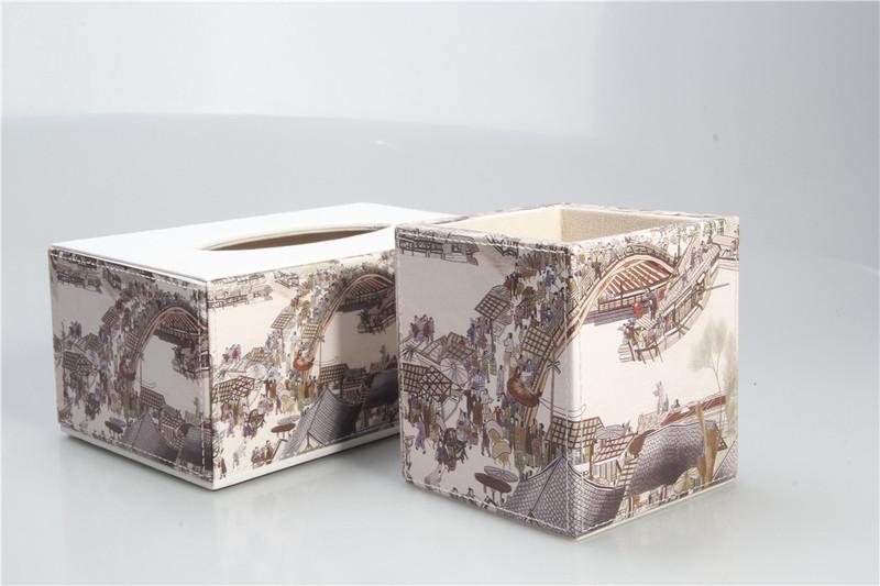尚多皮具家具飾品首推:清明上河圖紙巾盒