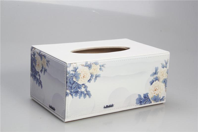 尚多皮具家具飾品首推:牡丹紙巾盒