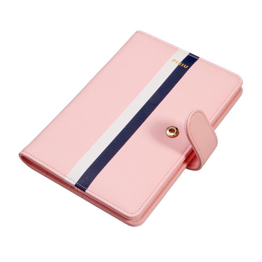 品牌皮具粉紅系列皮具之真皮護照包圖片展示