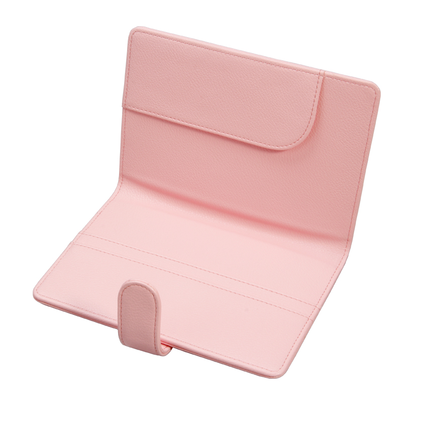 品牌皮具粉紅系列皮具之真皮護照包