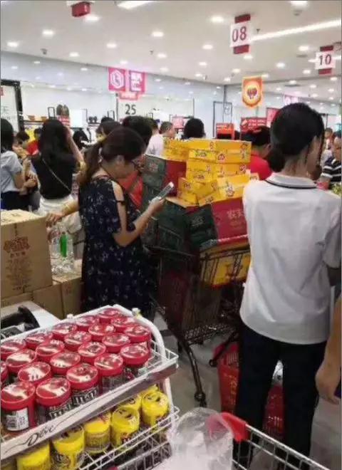 山竹超市產品被一掃而光